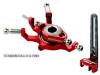 MICROHELI Titanium Swashplate w/ Anti-Rotation Guide combo (RED) - BLADE 130X