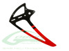 Carbon Fiber Vertical Tail Fin RED [H0281-S] - Goblin 500 / 500 Sport