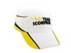 Official Team Scorpion Motor Cap / Hat (White/Yellow)