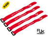 RJX Non-Slip Silicone backed Velcro Battery Straps Red (300X20mm 4pcs)