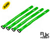 RJX Non-Slip Silicone backed Velcro Battery Straps Green (300X20mm 4pcs)
