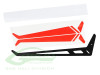 SAB Carbon Fiber Tail Fin Thunder (T) RED - Goblin Helicopters