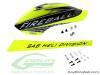 SAB Fiberglass Painted Canopy & Carbon Fiber Boom COMBO SET - Neon Yellow/Carbon - Goblin Fireball