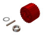 OXY4 - CNC Aluminum 23T Tail Pulley - Red - OXY 4
