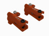 OXY3-4 - Tail Grip Set(with bearings) - Orange - OXY 3 / OXY 4
