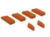 OXY5 - Landing Gear / Vertical Fin Protector (6pcs) - Orange - OXY 5