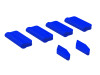 OXY5 - Landing Gear / Vertical Fin Protector (6pcs) - Blue - OXY 5