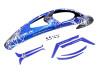 SAB Goblin RAW Canopy and Sticker Set - Blue - Raw 700