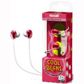 Cool Beans Stereo Earbuds - Red - Maxell