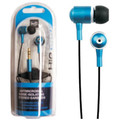 """Hip Street """"Hip Budz"""" Antimicrobial Noise Isolating Stereo Earbuds - Blue"""