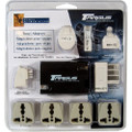 Targus Power and Phone Travel Adapters with Retractable Phone Cord