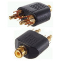 1 RCA Female to 2 RCA Male Adapter -