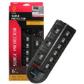 Woods Surge Protector - 100% Equipment Replacement Warranty - 9 Outlets, EMI/RFI + Fax/Modem Protection<BR>
