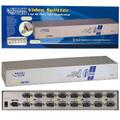 16 Way VGA Splitter - Resolution 1920 x 1440 - <BR>250 MHz