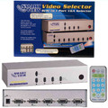 Smart View 4 Port VGA Switch with OSD Function & Remote Control<BR>