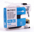 Brother LC103 Cyan Ink Cartridge High Yield - New compatible