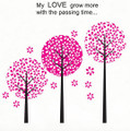 Pink Trees Wall Decals