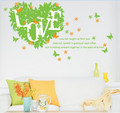 Leaves, Butterfly Wall Decals