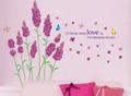 Lavender Flower Wall Decals