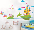 Whale, Ocean, Castle Wall Decals