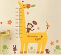 Giraffe, Monkeys, Height Measure Wall Decals