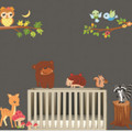 Bear, Deer, OWL, Squirrel Wall Decals