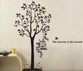 Big Tree, Cage, Bird Wall Decals