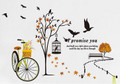 Bike, Birds, Trees, Bench, Cage Wall Decals