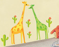 Giraffe, Trees Wall Decals
