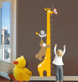 Giraffe, Bear, Measuring Wall Decals