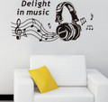 Headphone, Musinc Wall Decals