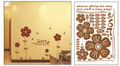 Flowers Wall Decals - Brown