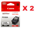 Genuine Canon PG-240XL Black Ink Cartridge (High Yield) (Pack of 2)