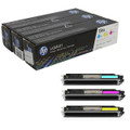 Original HP 126A Tri-Pack Toner Cartridges (CE311A Cyan, CE312A Magenta, CE313A Yellow)