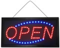 LED OPEN Sign - Bright Red / Blue Lights - 19'' X 10''