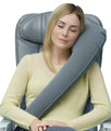 Inflatable Travel Pillow - Lean to Sleep & Rolls to Small - Grey Color
