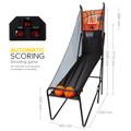 Foldable Electric Basketball Scoring Machine / Basketball Shooting Game