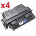 HP C8061A Remanufactured Black Toner Cartridge (Pack of 4)