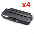 New Black Toner Cartridge Compatible with Samsung MLT-D103L  High Yield (Pack of 4)