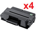 New Black Toner Cartridge Compatible with Samsung MLT-D205L , High Yield (Pack of 4)