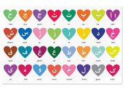 Personalized Persian Alphabet Heart Placemat