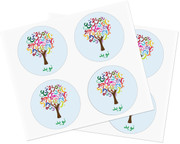 Personalized Persian Tree Stickers