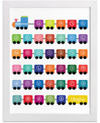 Personalized W Armenian Train Art Print