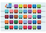 Personalized W Armenian Alphabet Train Placemat