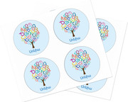 Personalized W Armenian Tree Stickers