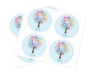 Personalized Hebrew Tree Stickers
