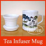 Porcelain Tea Infuser Mug - Landscape