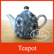 Japanese Teapot - Blue Flowers