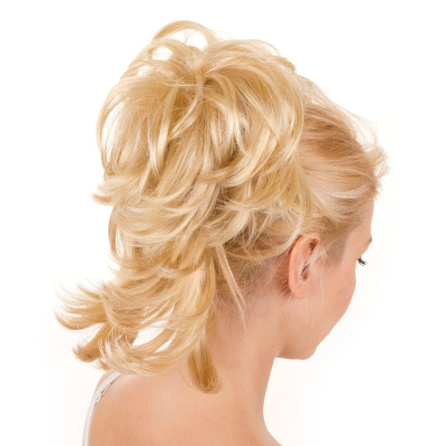 Clip in Ponytail Flexible Strands Candy Blonde
