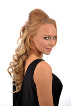 Clip in heat style able hair extensions volu curl clip in hair extensions fawcett blonde pmusecretfo Choice Image